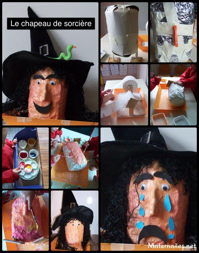 Comptines à contruire : Le chapeau de sorcière