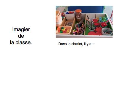 Imagier de la classe par Christine